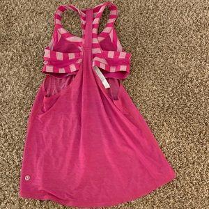 Lululemon sports bra tank top shirt size 6 medium